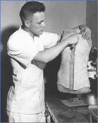 Herb Schulze in the early days of his career, serving at Fitzsimons Army Hospital in Denver, CO.